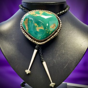 Turquoise nugget bolo tie